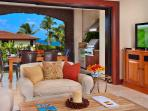 F102 Bali Hai Pool Villa - Great Room with Pop-Up TV, Entertainment Center, Kitchen Bar Seating and More!