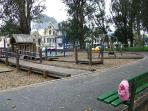 One of the children's playground in the Golden Gate Park is just a few blocks away