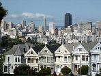 The famous Painted Ladies of Alamo Square Park just a few blocks away
