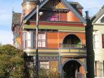 Colorful Victorians are a plenty in any direction you walk.