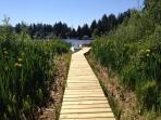 New walkway to your own floating dock