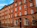 The apartment in situated in an old paintworks factory