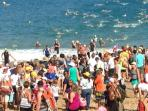 World-class EXTERRA athletes emerge from nearby Fleming Beach in Kapalua every October.