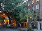 Historic 1BR Garden on Monterey Square with Exposed Brick & Hardwood Floors