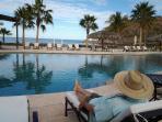 Pool at the inn & Beach Access