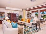 Castaway Cove C201 - Spacious Ocean View Great Room and Alfresco Covered Terrace with Lounging Area. Great Room armoire...