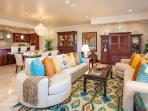 Castaway Cove C201 - Spacious Ocean View Great Room, Dining and Gourmet Kitchen. Great Room armoire has been removed...