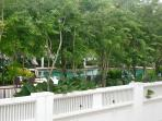 The only few apartments over looking the swimming pool and other facilities' floor