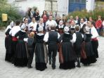 Breton dancers at the Summer market in Mûr de Bretagne.