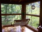 Sunroom aka treehouse : )