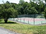 Bring your raquet and enjoy the private association tennis courts right across the street
