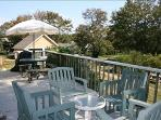 Bring your meal outside to the back deck.