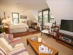 Master in the Main House is upstairs with a Queen, Wonderful Balcony plus sitting area.