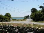 The view of Nauset Estuary and Inlet from the front lawn.