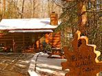 Rushing Waters Cabin-Front Entrance