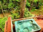 Rushing Waters Cabin-Back Patio & Hot Tub