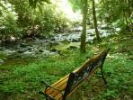 Rushing Waters Cabin-Creek Side Seating