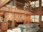 Living Room & view of upstairs bedroom