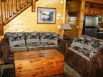 Decorated in a mountain/bear theme.  New furnishings throughout