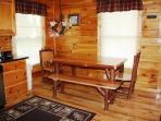 Hand crafted amish dining table.  Seats 6