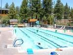 Tahoe Donner Trout Creek Fitness center with four season heated pool, sauna, steam room, & hot tubs