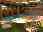 pool level breakfast is ready