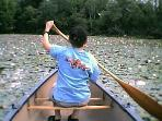 The most popular canoe destination is the lilly pond.