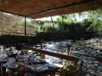 traditional restaurant on the river, 10 min.by car from the property
