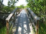 Foot Bridge to the private beach path. A short walk - not far away!