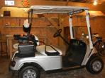 Golf Cart battery charged and ready to go.  Additional charge for the golf cart. $75/day