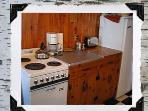 Kitchen counter and stove