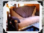 Full-size futon in living room