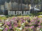 Gulf Place resort just across the street from Gone Gulfing.  Great restaurants and shopping.