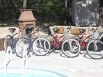 4 3-speed bikes available for use by our guests