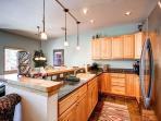 Pines Townhome Kitchen Ski-in/Ski-Out Breckenridge Lodging