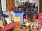 Veranda with sitting lounge and Lamu bed