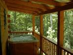 Lakeview Log Cabin Hot Tub
