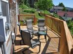 The deck is a favorite spot to hang out and enjoy the view.
