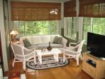 All season porch with pull out sofa bed