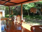 Side patio living area