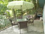 Deck with Gas Grill & Seating for up to Six People
