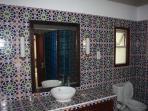Moorish tiled bathroom
