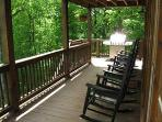 Nice big porch with 2 BBQ grills - gas & charcoal