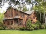 Villa on Cobbossee Lake, private beach, lake view,