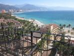 Panoramic  view of Ocean, mountains and; City. Actual views are much better than these photos.