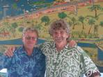 At the Airport in Savusavu with a happy departing guest