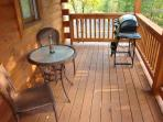 Rear Porch showing Gas Barbeque and Bistro Table and Chairs