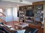 Custom built TV area with netflix on-demand