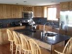 New Granite kitchen with Prep Sink in island