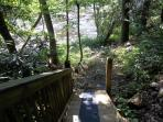 Private, custom walkway to River